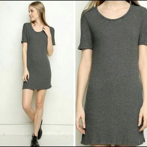 Brandy Melville One Size Gray Ribbed Sweater Dress